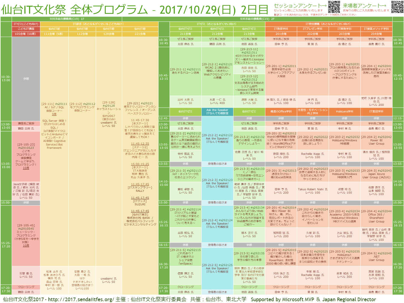2017/10/29(日)2日目